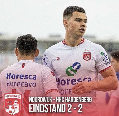 Noordwijk speelt gelijk tegen HHC Hardenberg