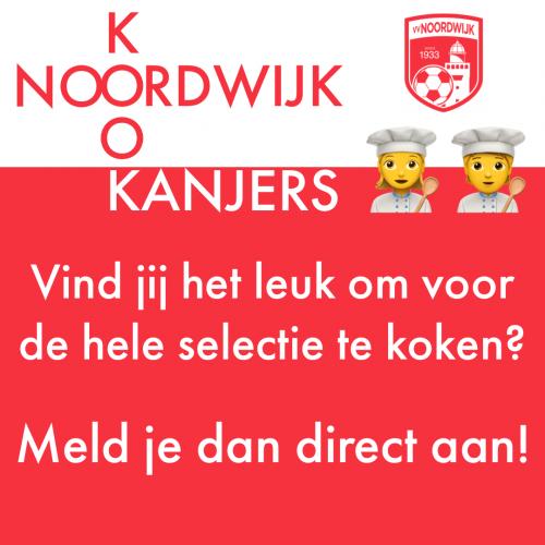"""Gezocht: """"hobby""""koks voor Noordwijk selectie"""
