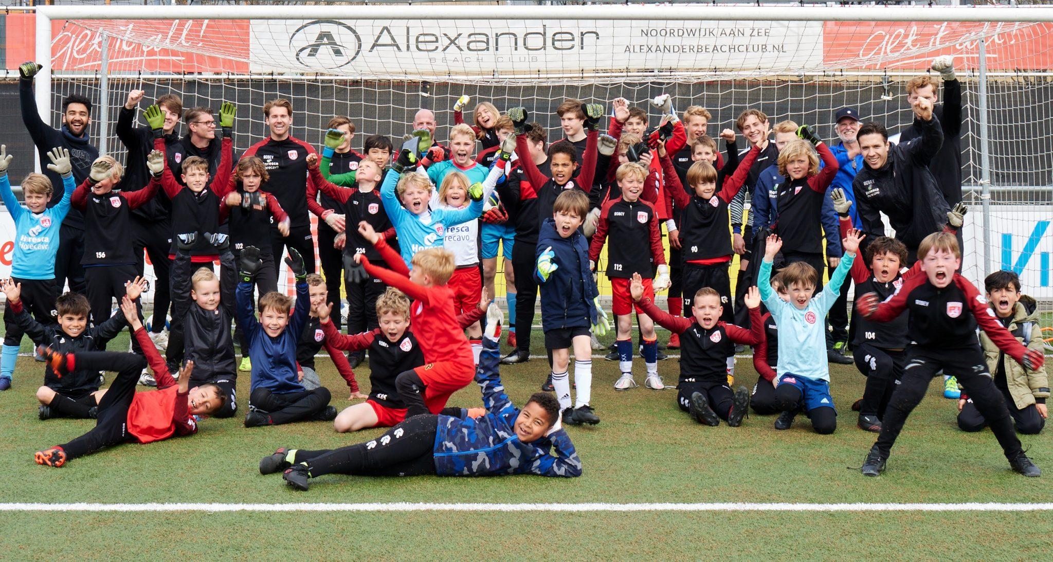 Penaltybokaal en Keepersclinic bij vv Noordwijk
