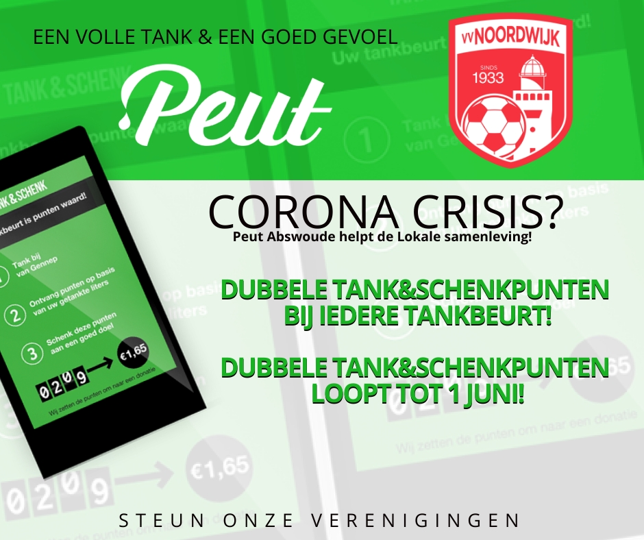 Peut Abswoude steunt vv Noordwijk 1